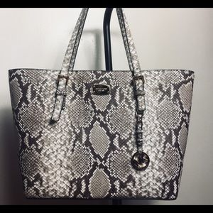 Michael Kors Jet Set snakeskin Bag New with tags